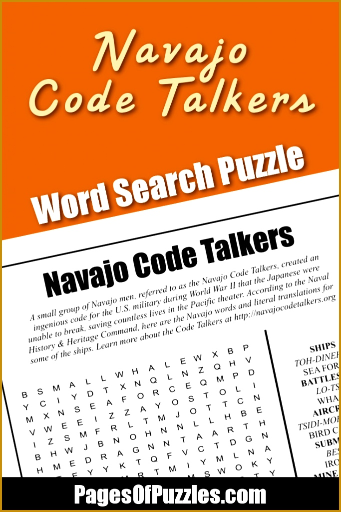 Navajo Code Talkers Word Search 1024683