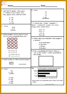 2nd Grade mon Core Math Assessment SHORT Form A 10 Questions Second Grade 309219