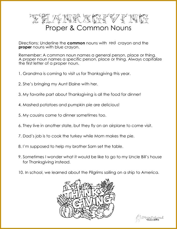 Thanksgiving proper & mon nouns 885684