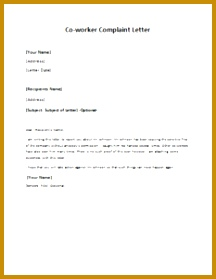 5 complaint letter about coworker sample fabtemplatez 5 complaint letter about coworker sample thecheapjerseys Choice Image