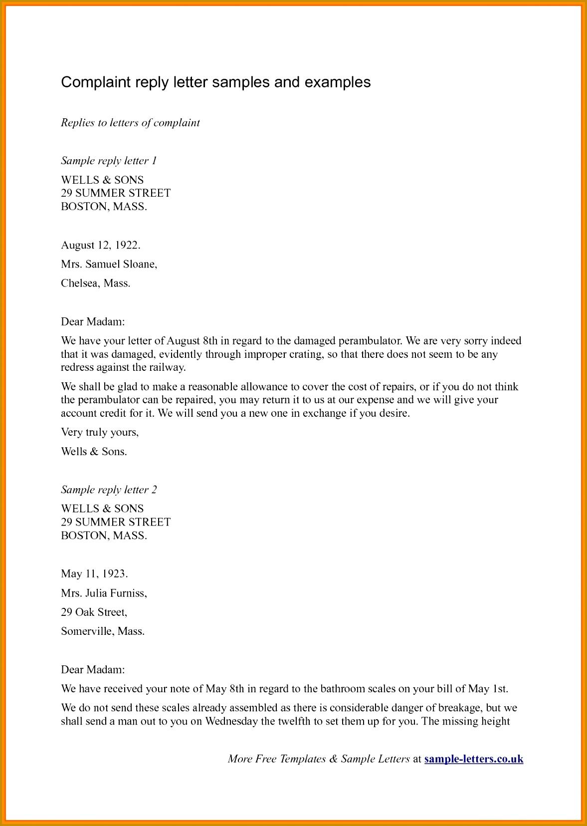 50 Unique plaint Letter to Insurance pany Sample 11771655