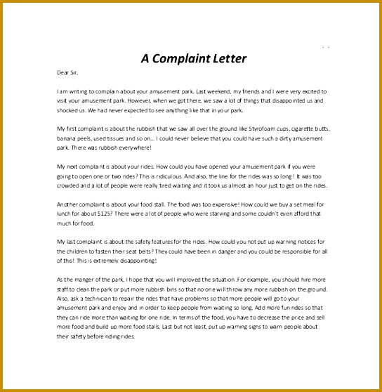 12 letter of plaint templates free sample example format 558544