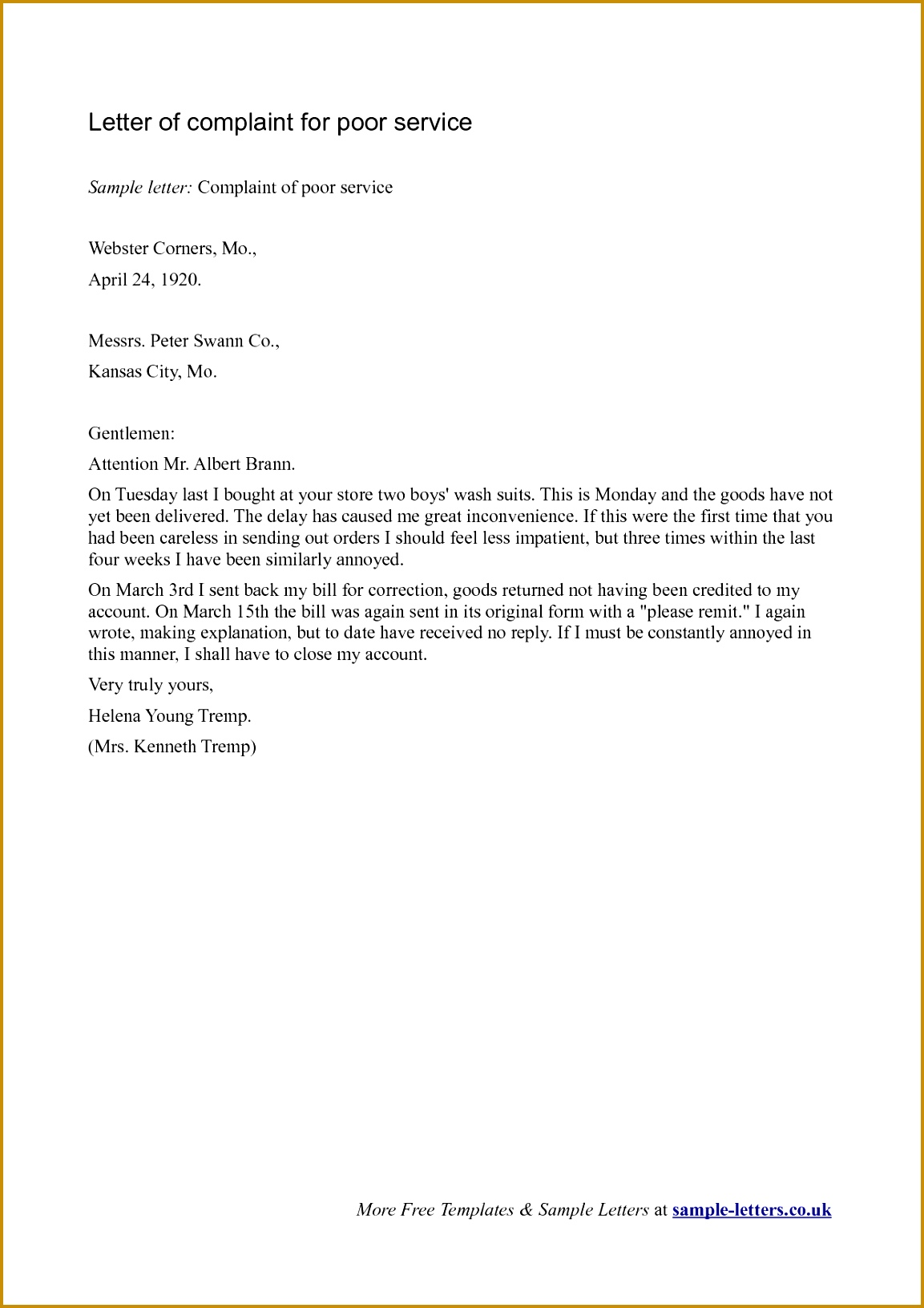 letters of plaint examples cv and resume letters of plaint examples writing plaints letters samples examples 16311153