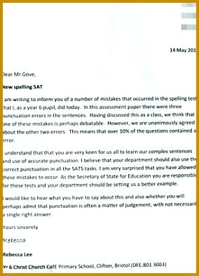 Enlarge Letter to Mr Gove 393284
