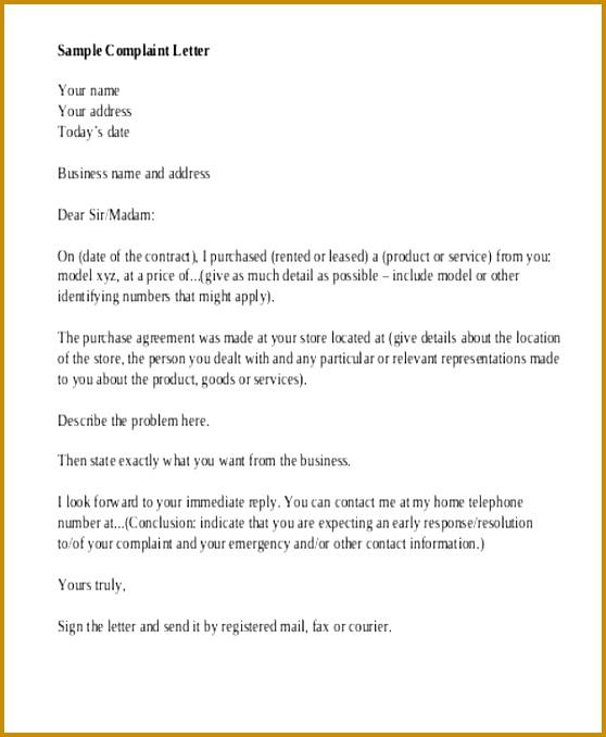 plaint Letter Examples Rude Customer Service plaint Letter Sample Rude Customer Service plaint Letter Sample 678558