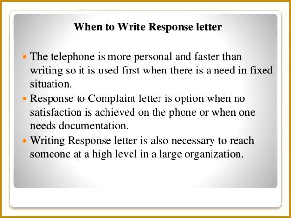 Response To plain Letter 445593