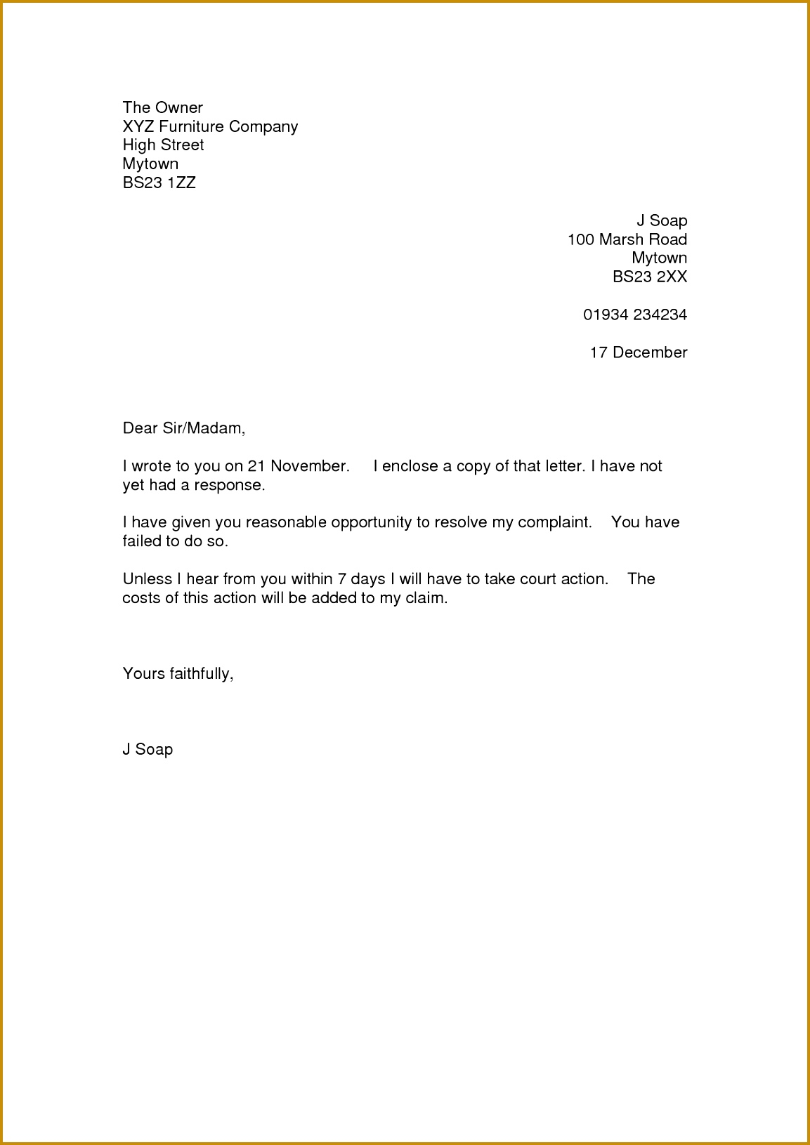 how to write a customer plaint letter leading customer service cover letter examples resources sample of plaint letter cover letter sample 2017 doc 16311153
