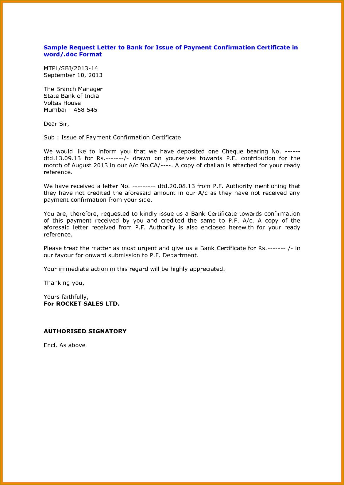 bank confirmation letter format 10 16491171
