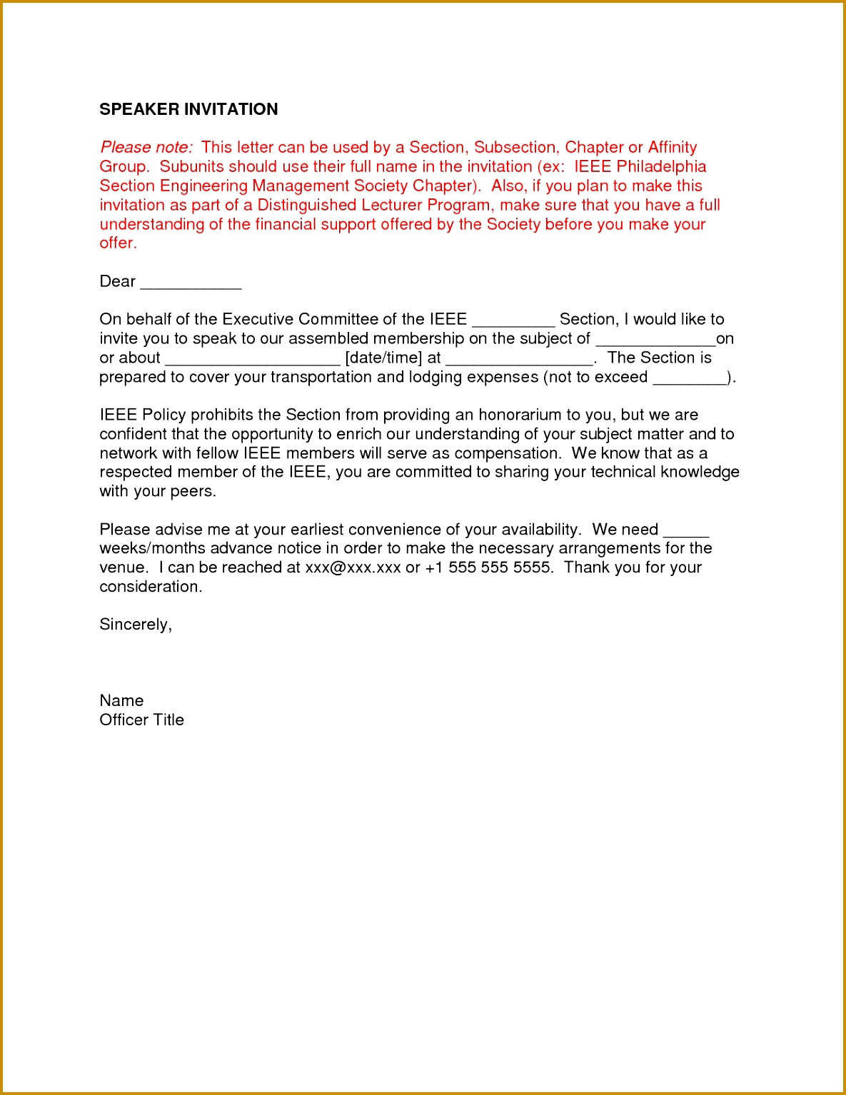 Invitation Letter Format For Prayer Meeting Best Best s Speaker Confirmation Letter For Church Sample 15341185