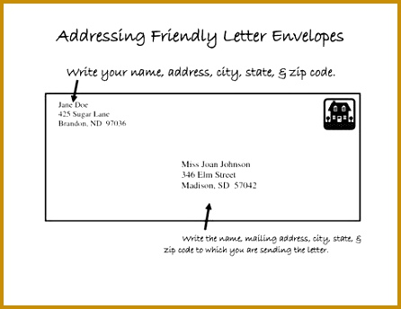 Mail Letter Format Preferred Address Placement Flat Envelope Letter Mail Format 446344