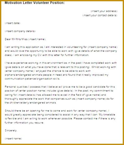 4 confirmation letter volunteer work fabtemplatez confirmation letter volunteer work 09961 motivation letter volunteer position example altavistaventures Choice Image