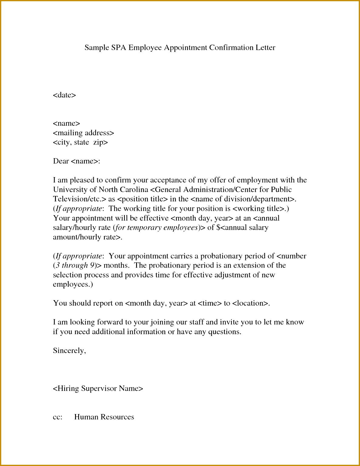 4 confirmation letter volunteer work fabtemplatez confirmation letter volunteer work 50483 appointment confirmation letter confirmation of appointment spiritdancerdesigns Gallery