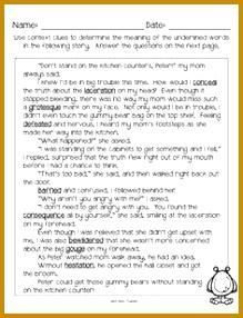 Context Clues Worksheets No Prep Printables and Anchor Charts 3rd 5th grade 286219