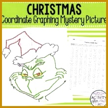 Coordinate Plane Worksheets 01378 Christmas Math Activity Ugly Sweaters Plotting Points Mystery