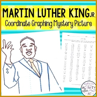 Coordinate Plane Worksheets 94017 Martin Luther King Jr Mlk Coordinate Graphing Mystery Picture