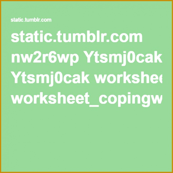 Wellcast Worksheet Coping with Fear pdf 595595