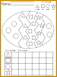 Easter Egg Shapes Graph for practice with shape recognition coloring and graphing 293219