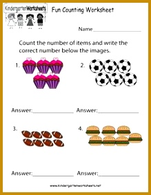 This is a fun counting worksheet for kids in preschool or kindergarten You can 283219