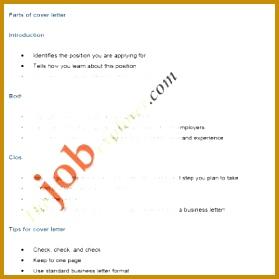 Letter format for Job Application Pdf New Sample Job Cover Letters Job Application Letter 279279