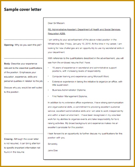 Creative Sample Cover Letter In Email for Job Application with Free Sample Cover Letter for Job 571464