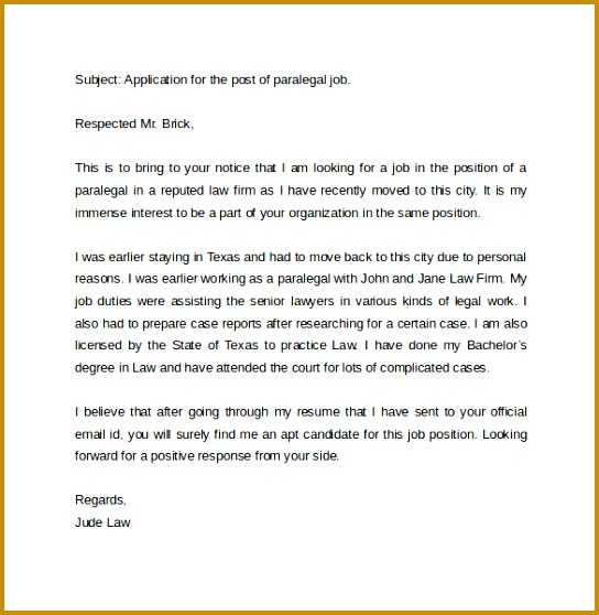 email cover letter sample for job application how to write 544558
