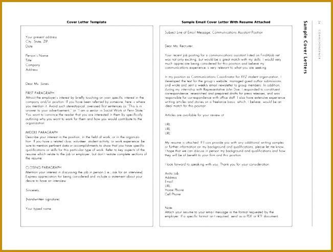Cover Letter Email Sample Email Cover Letter Email Cover 493651
