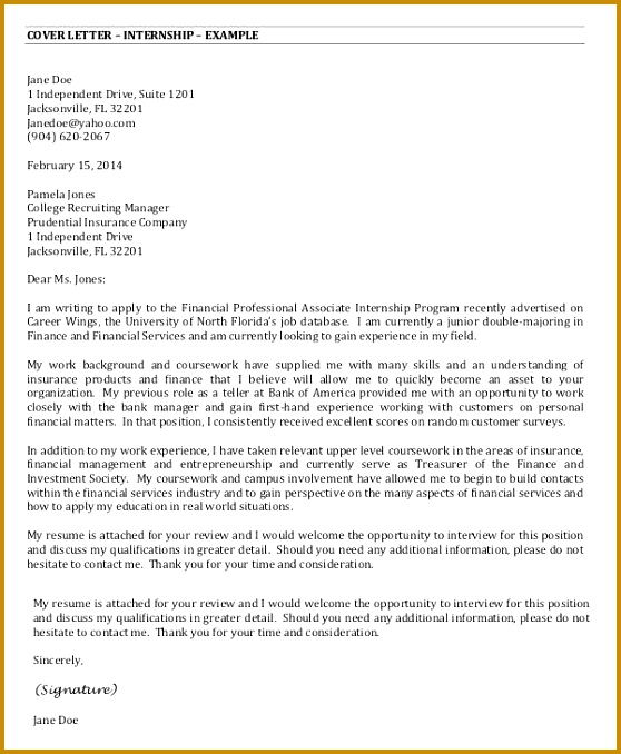 internship cover letter cover letter for internship cover letter example graphic design 678558
