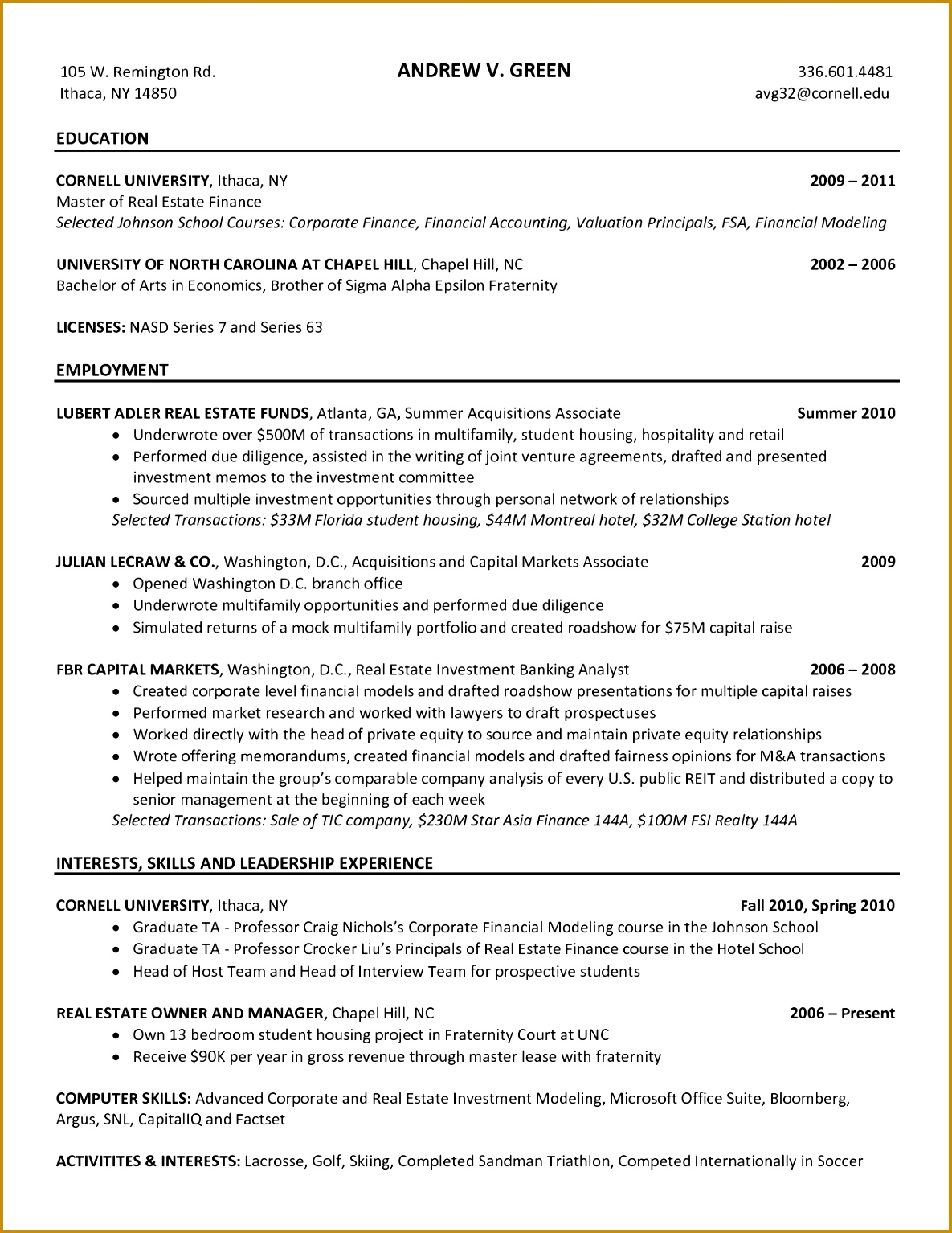 Magnificent Cover Letter for Investment Banking Sample In Professional College Essay Writers Causes and Effects 15341185