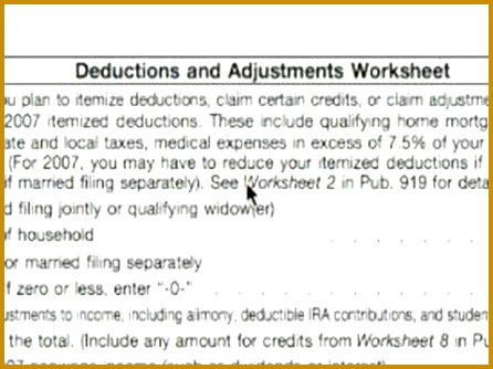 Basic Explanation of W 4 tax Form Deductions & Adjustments Worksheet W 4 Tax Form 334446