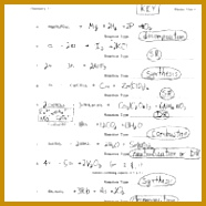 Overview Chemical Reactions Worksheet Worksheets for all 186186