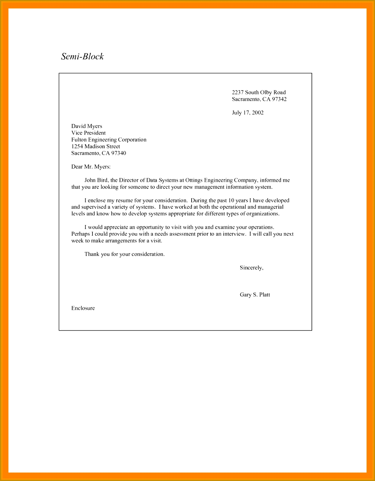 9 format for a business letter block style 15901241