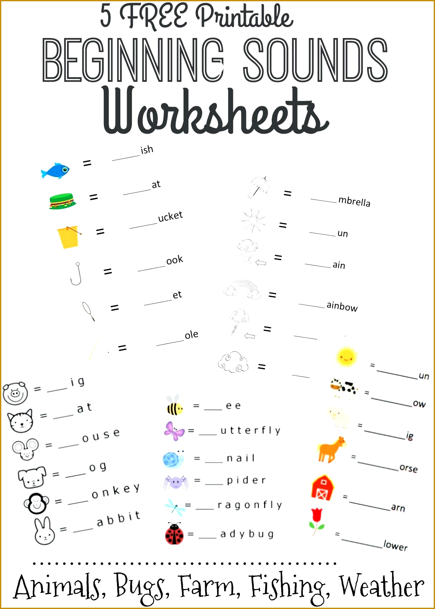 worksheet Literacy Printable Worksheets 5 Free Beginning Sounds Letter For Year 1 Uk 19531395