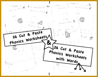 Phonics Activity Sheets I Cut & Paste First Letter Sounds by FUNetic Farm 255325