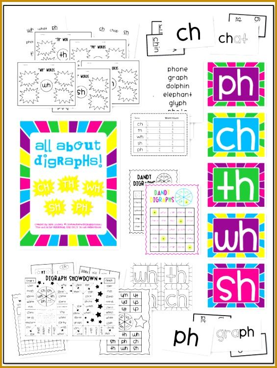 Consonant Digraph Packet SH CH PH TH & WH 751565
