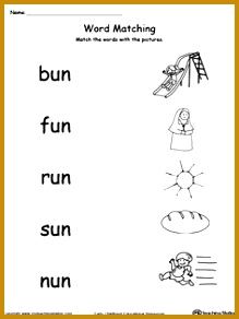 FREE UN Word Family Picture and Word Match Worksheet Topics 292219