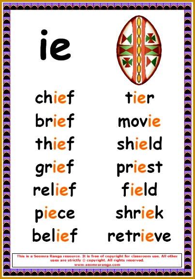 Phonics Poster – ie Words 576403