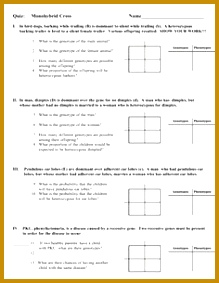 worksheets on monohybrid cross Google Search 283219