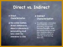 4 direct and indirect characterization worksheet