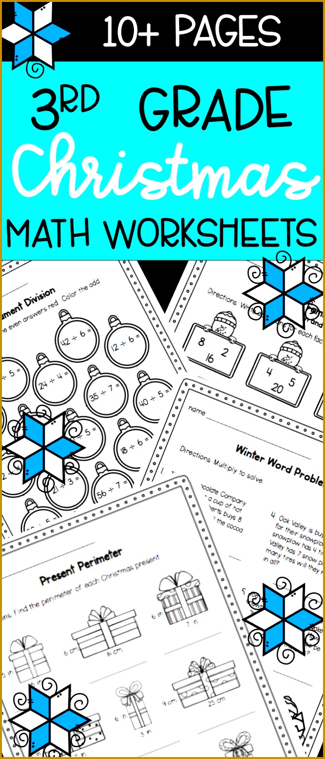 Christmas Worksheets Math Practice Pages for 3rd Graders 1557667