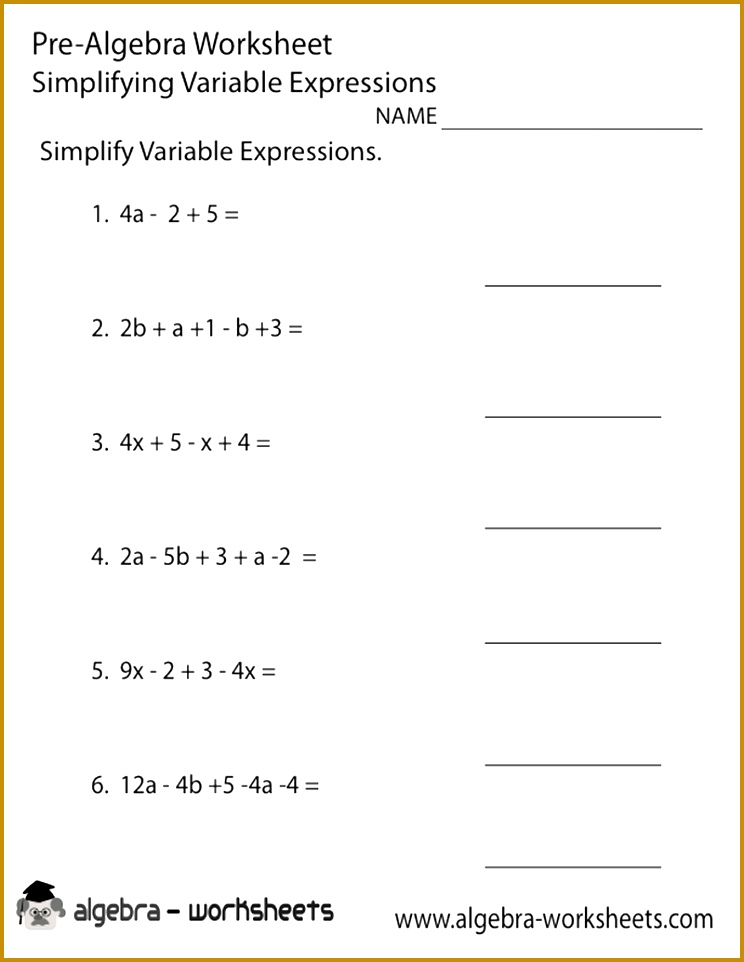 8th grade math worksheets algebra Google Search 962744