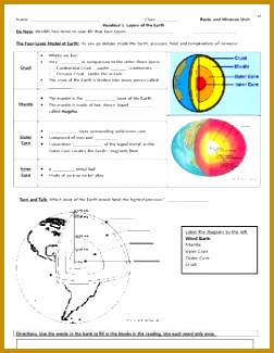 Layers of the Earth Guided Notes and Worksheet 252325