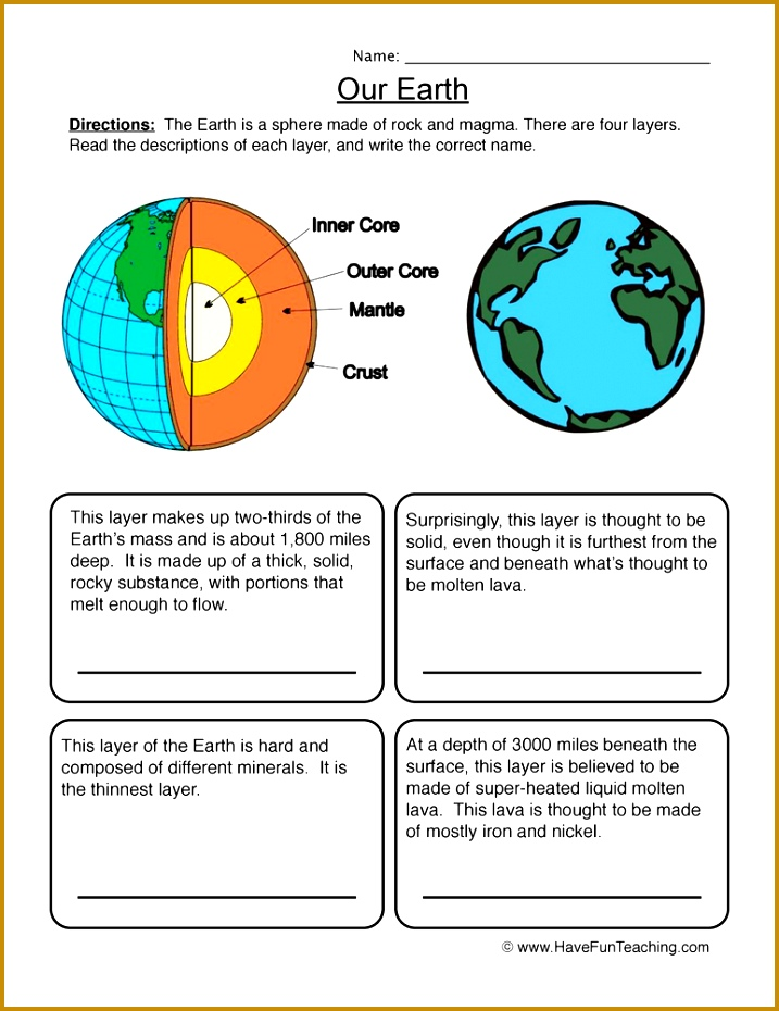 Our Earth Worksheet 1 930717