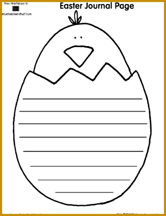 FREE Easter writing and shape book pages 422325