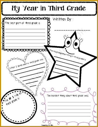 End of the Year Reflection Worksheet from Kims Educational Resources on TeachersNotebook 5 511395