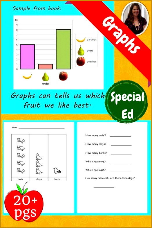 Graphs Unit for Special Education differentiated The book has lots of examples of bar 785524