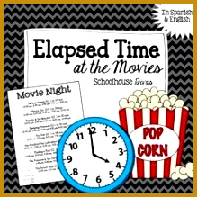 FREE Elapsed Time Worksheet Students use a real world concept movie theater times 219219