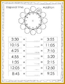 Free elapsed time worksheets 283219