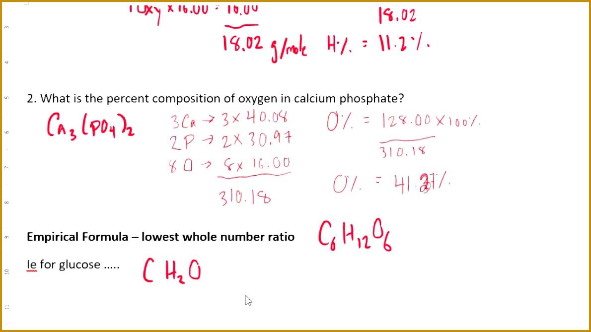 percent position empirical formula molecular formula hydrate formula 6691190