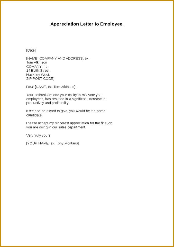 6 Employee Appreciation Letter Sample Fabtemplatez
