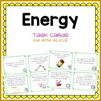 Energy Task Cards Potential Kinetic Transformations 325325